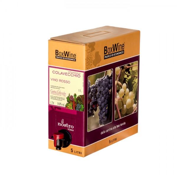 Bag in box vino rosso (5 litri)